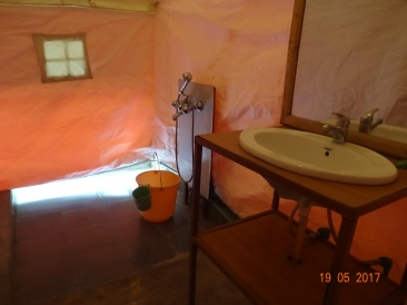 The Washroom inside the tent