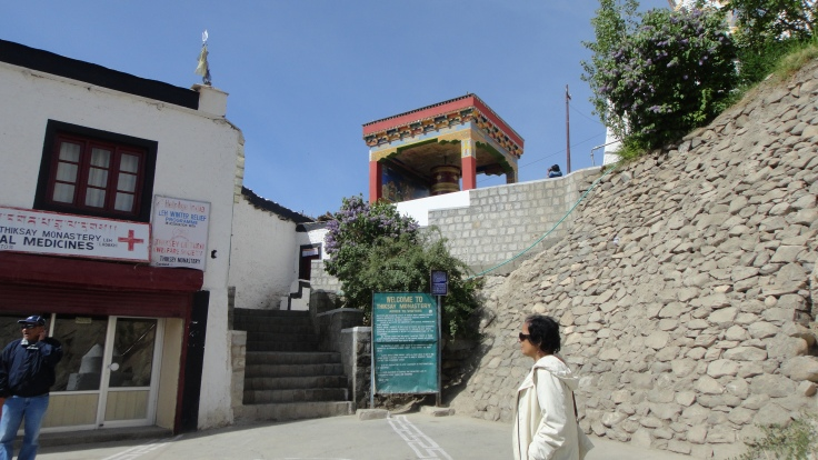 Entrance of Thiksey Monastery